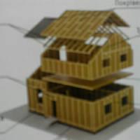 Каркасный дом из соломы.