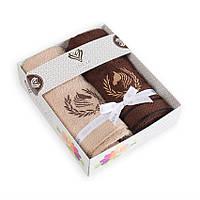 Набор махровых салфеток Конь в веночке 2шт, фото 1