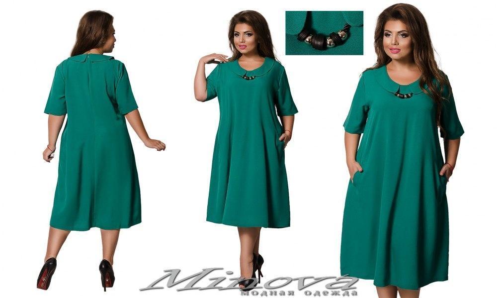 Платье женское свободного пошива стрейч-креп размеры: 56,58,60