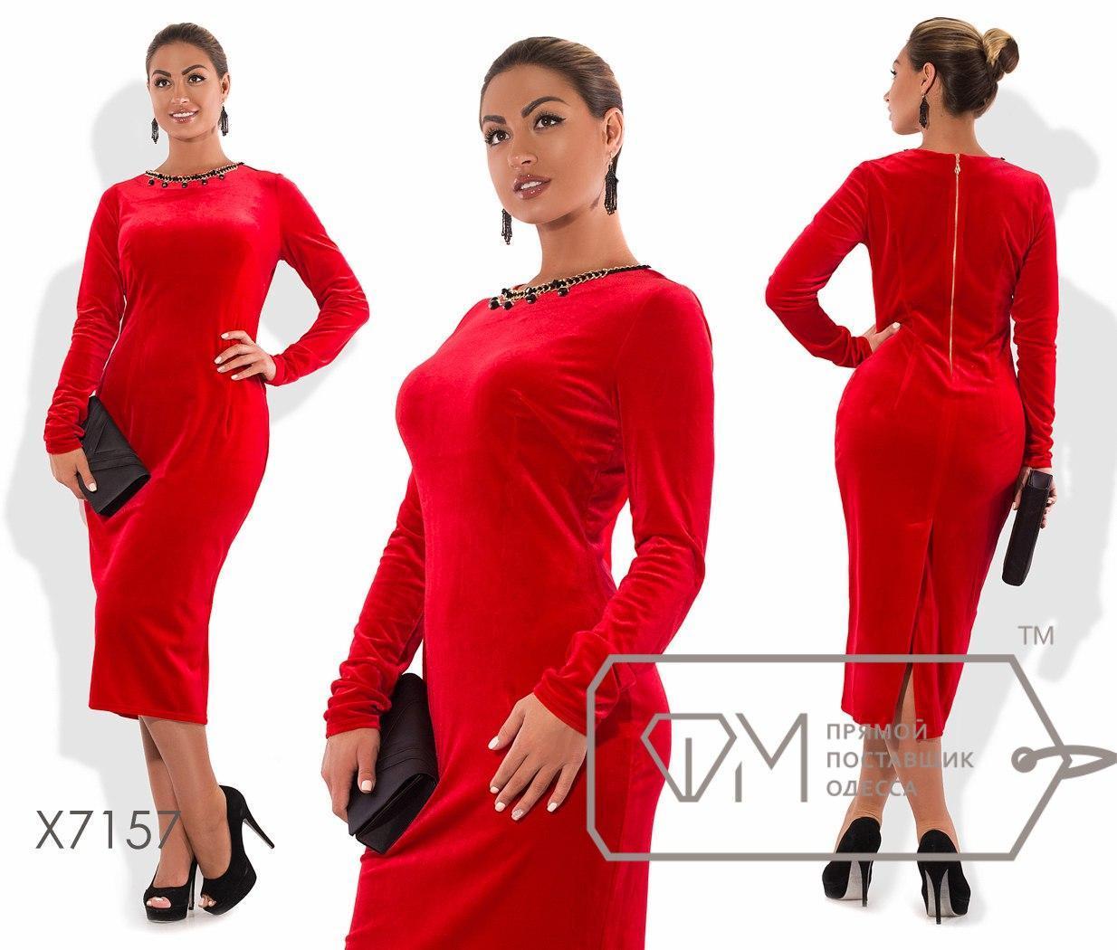 Нарядное велюровое платье  размеры: 50,52,54,56