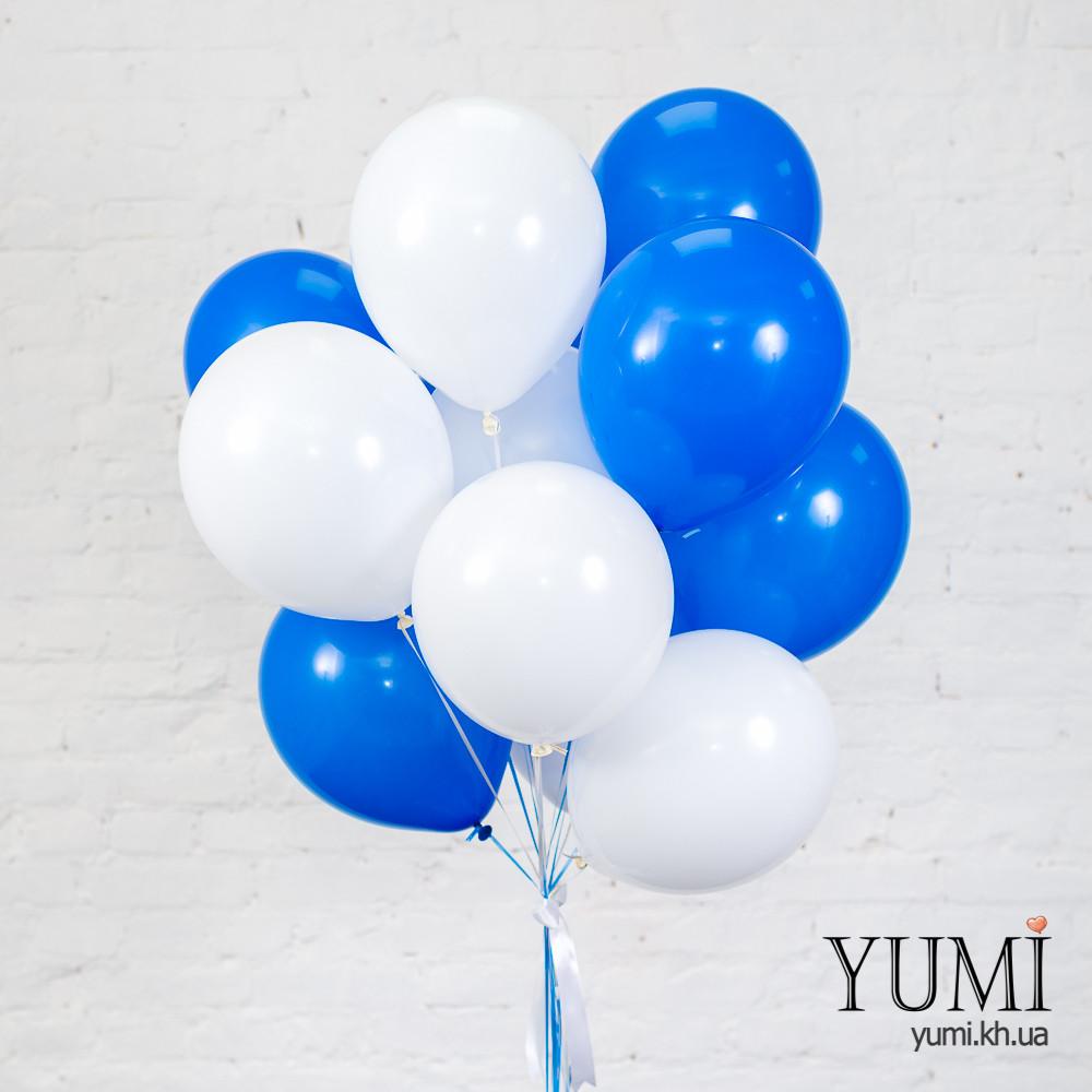 Связка для мальчика из 15 воздушных гелиевых шаров