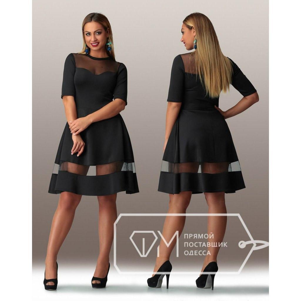 """Платье с расклешенной юбкой  """"Луиза"""" размер 48-54"""