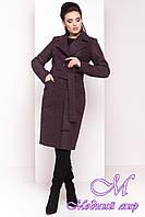 Женское классическое зимнее пальто цвет шоколад (р. S, М, L) арт. Габриэлла 4360 - 21000