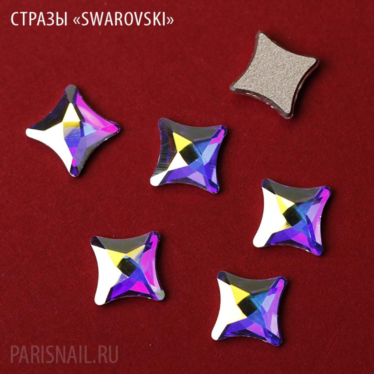 """Стразы """"Swarovski""""  2494 MM 6,0 CRYSTAL АВ F - 1шт"""