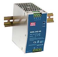 NDR-240-48 Блок питания на Din-рейку Mean Well 240вт, 48в, 5А