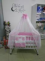 """Постельное в детскую кроватку 9 в 1 """"Мишки на рыбалке"""", """"Bepino"""""""
