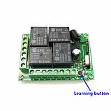 4-х канальный модуль дистанционного управления 433 МГц DC12V 1 пульт, фото 3