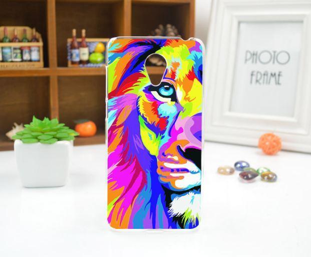 Силиконовый бампер чехол для Meizu M6 с рисунком Цветной лев