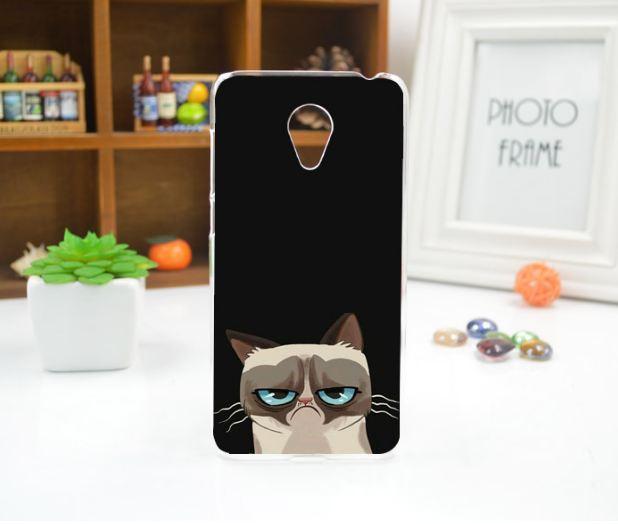Силиконовый бампер чехол для Meizu M6 с рисунком Грустный кот
