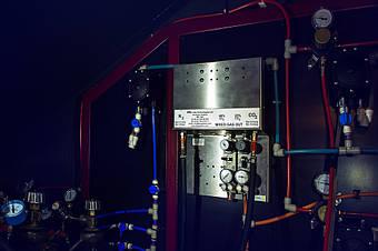 Газовый блендер для получения двух видов азотно-углекислотной смеси: 60/40% и 75/25%