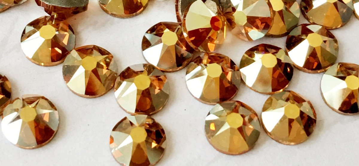 "Стразы ""Swarovski"" 2058 Crystal Metallic Sunshine /SS9 100 шт"