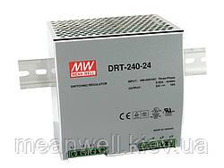 DRT-240-24 Блок питания на Din-рейку 3-х фазный Mean Well 240вт, 24в, 10А