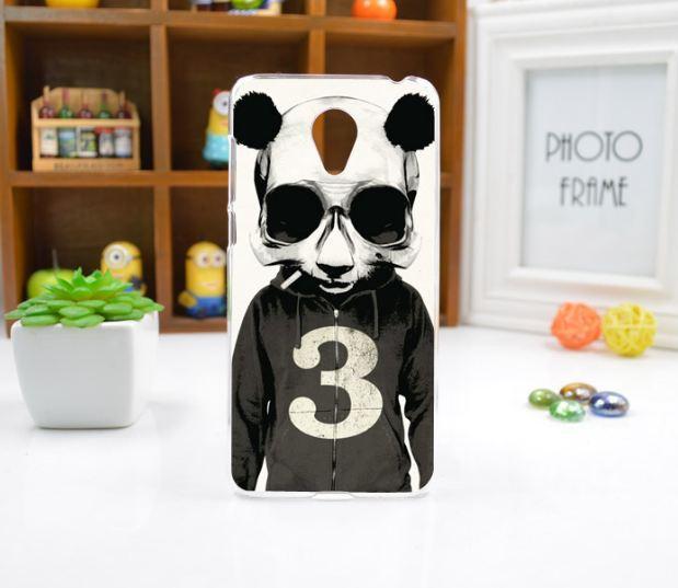 Чехол накладка силиконовая для Meizu M6 с рисунком Панда с сигаретой