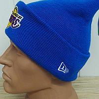 "Вязаная шапка з нашивкой ""Lakers"" с отворотом"