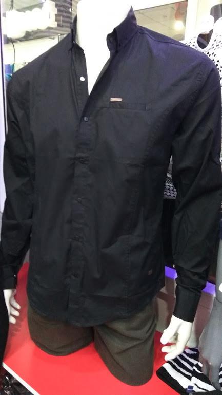 198e50f71c9 Рубашка мужская черная 100% хлопок (S. M.) - Интернет - магазин JEANSTON в  Полтавской