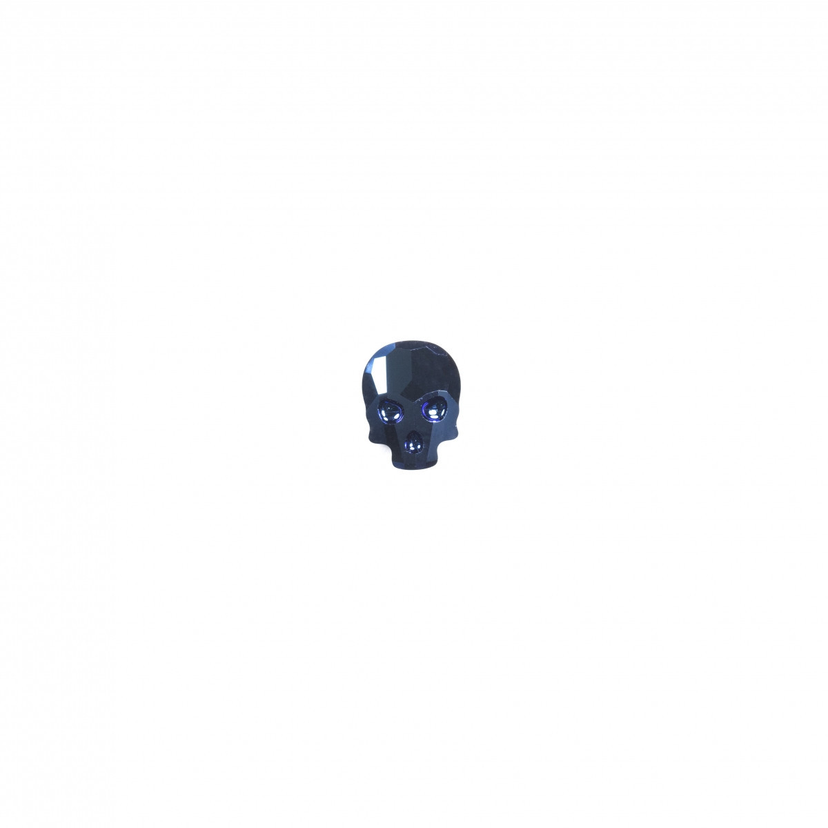 "Элемент ""Swarovski"" 2856 ""Череп"" 10*7,5 CRYSTAL MET.BLUE - 1 шт"