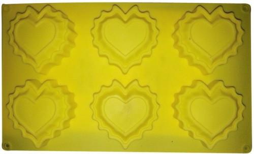 Форма для выпечки Кекс 6 сердец 30*18*3см(шт)