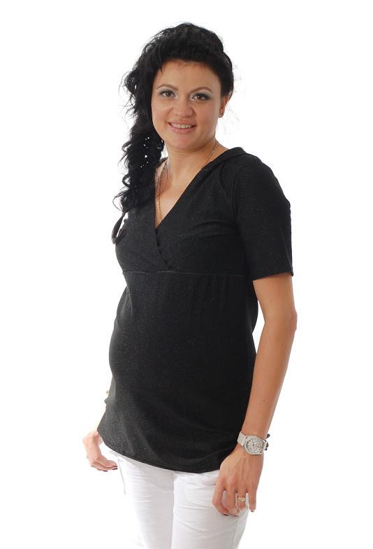 Туника с капюшоном для беременных ДЕЛОВАЯ МАМА (чёрная, размер S)