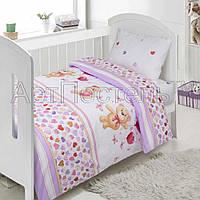 Подростковое полуторное постельное белье Малыш, поплин 100%хлопок