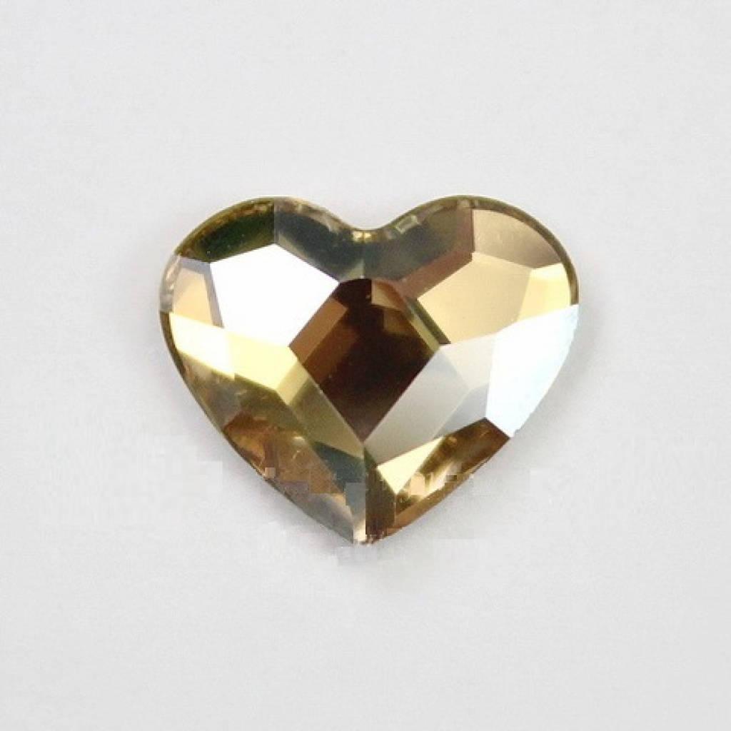 """Стразы """"Swarovski""""  2808 MM 6.0 Crystal Golden F - 1шт"""