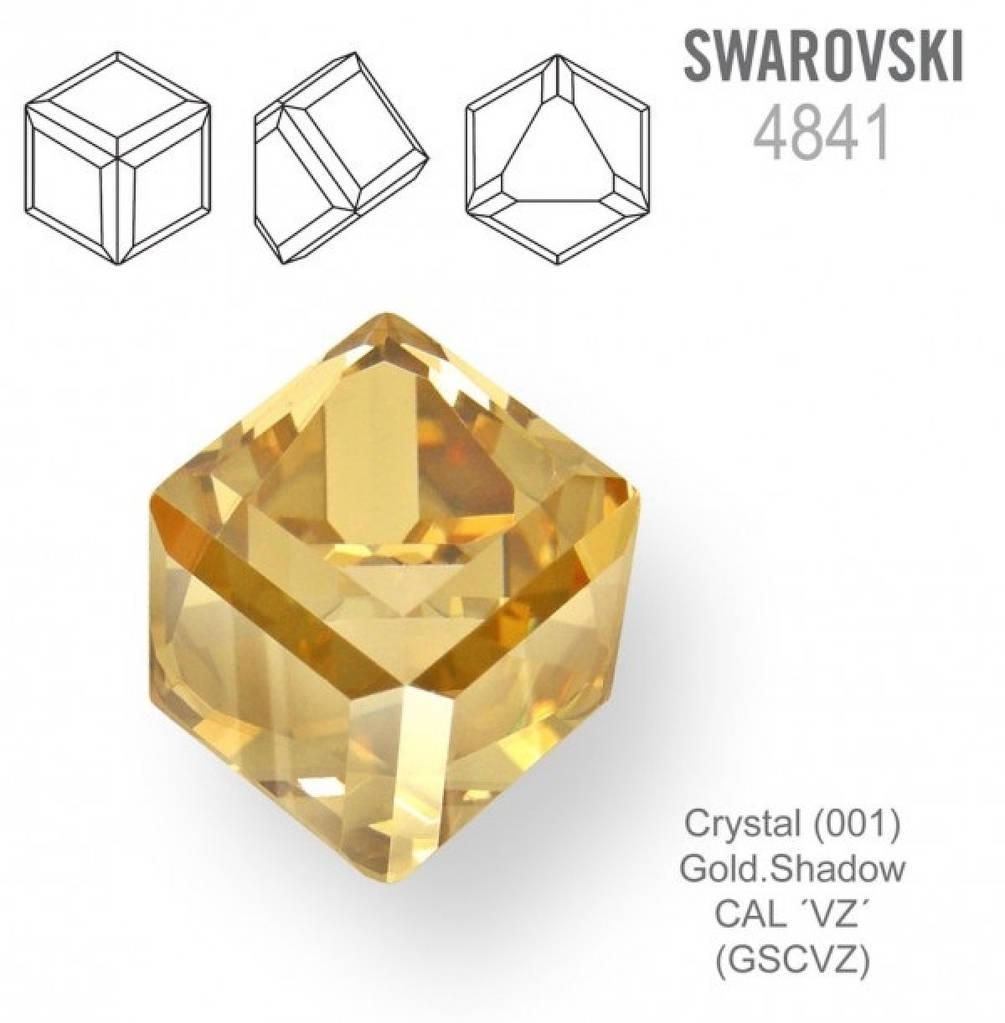 "Элемент ""Swarovski"" 4841 ""Кубик"" мм 4,0 CRYSTAL GOL SHA""VZ"" - 2 шт"