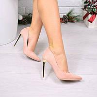 Туфли женские на шпильке Lady Star пудра, женские туфли на каблуке