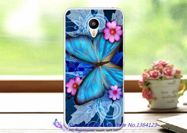 Оригинальный чехол панель накладка для Meizu M6 Бабочка на цветах