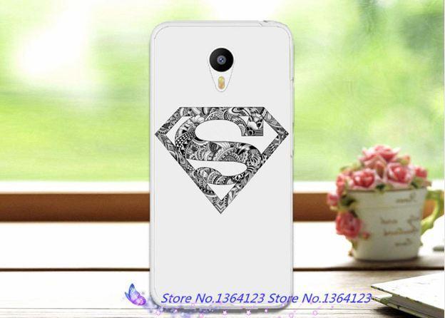 Оригинальный чехол панель накладка для Meizu M6 Супермен