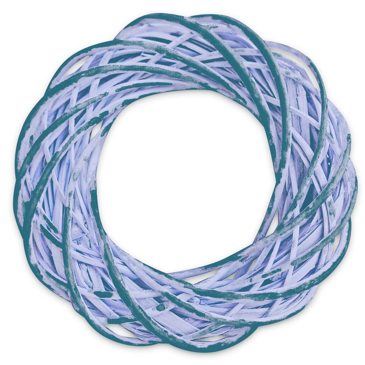 Венок из лозы 25 см синий