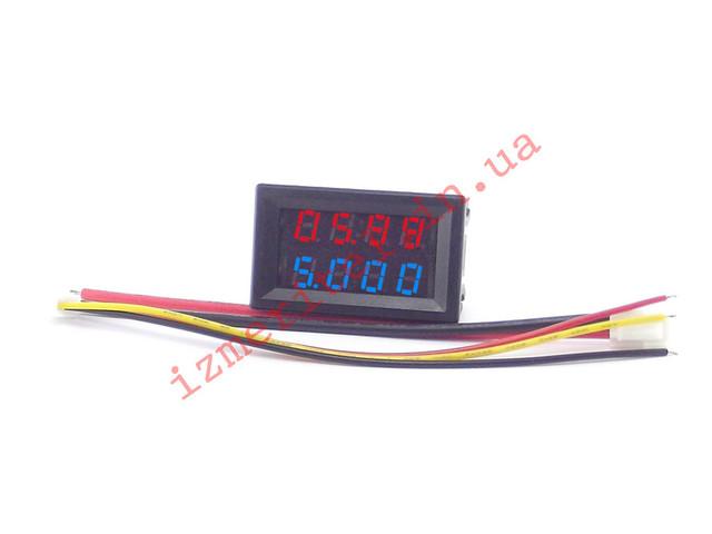 Цифровой вольтамперметр DC 0-200 В 10А