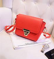 Маленькая красная женская сумочка из экокожи через плечо опт, фото 1