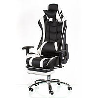 "Кресло компьютерное ""Special4You"" ExtremeRace black/white with footrest"