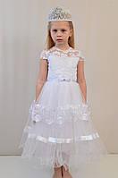 Детское белоснежное праздничное платье для утренника