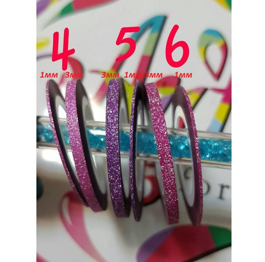 Мерцающая лента для дизайна 1 мм - №5 фиолетовый, Arti
