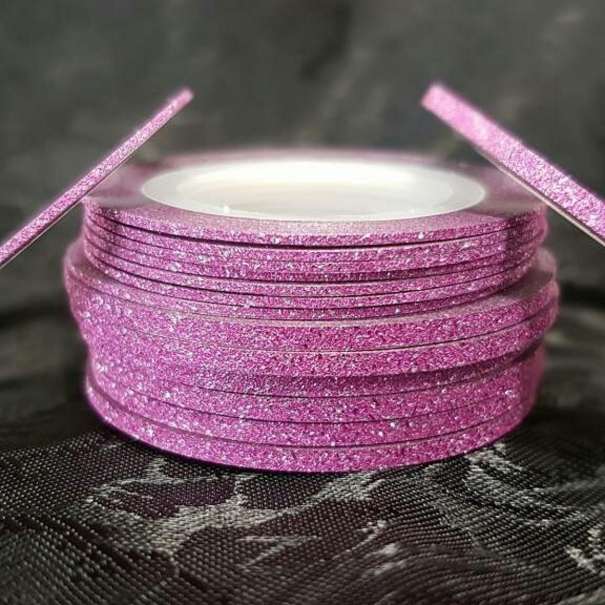 Мерехтлива стрічка для дизайну 3 мм рожевий, Arti