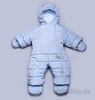 Детский зимний комбинезон Модный Карапуз 03-00411 голубой 62