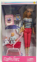 Кукла Барби с коляской 8358 Defa Lucy Китай