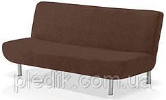 Чехол на диван-книжку натяжной 3-х местный Испания, Glamour Ante Clic Гламур коричневый