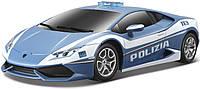 Игровая автомодель Lamborghini Huracan LP 610-4 Polizia со светом и звуком (синий), 1:24, Maisto