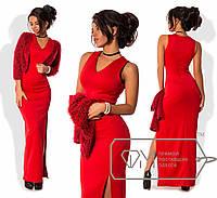 Вечернее платье в пол с болеро из вязки с люрексом  размер 42,44,46,48,50,52,54,56