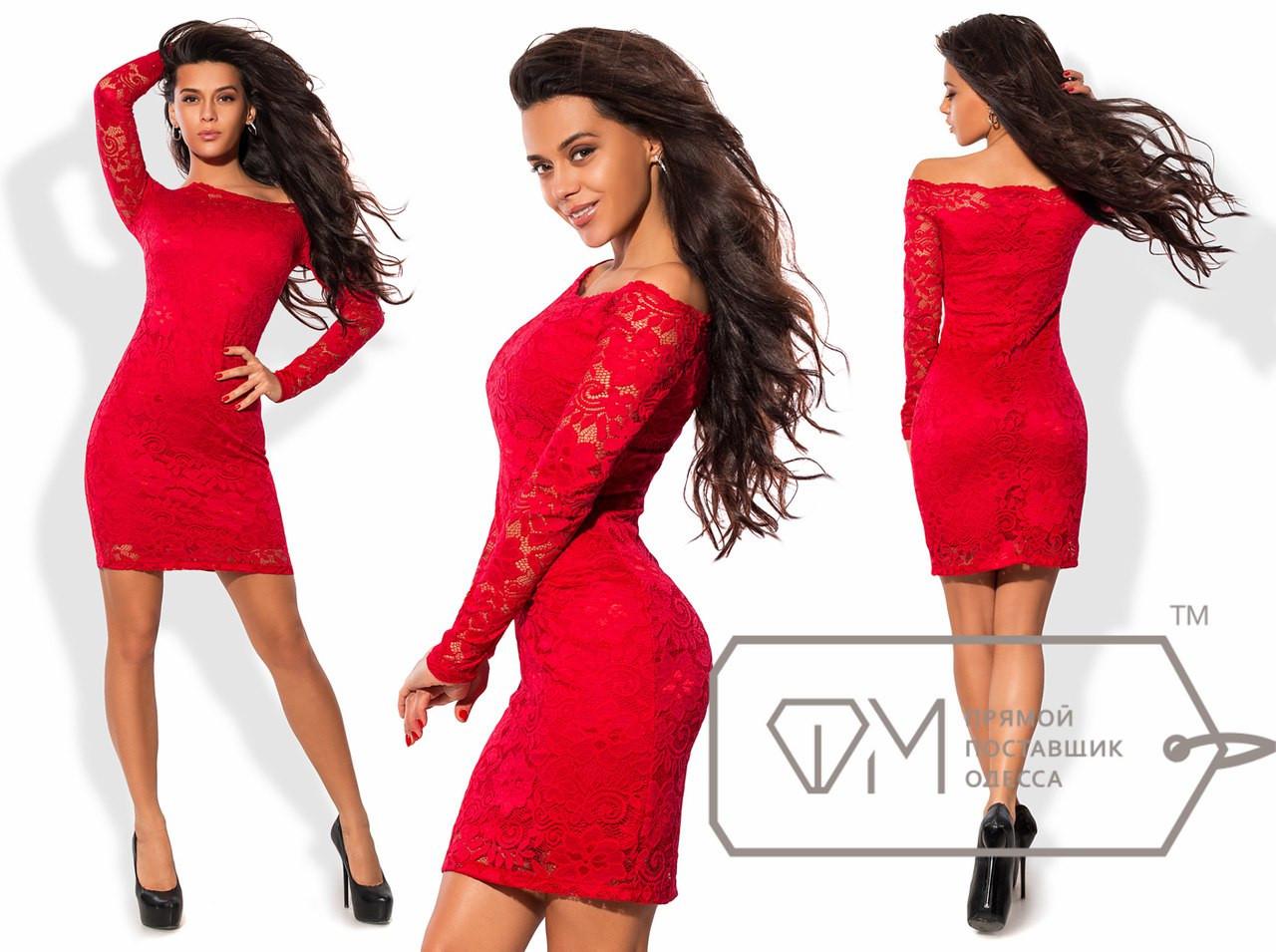 Облегающее гипюровое платье размер 42-48