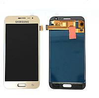 Дисплей (экран) для Samsung J200H Galaxy J2 + тачскрин, золотистый, оригинал