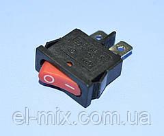 Выключатель KCD1-101-12 (SMRS-101-1) красный 1-группа OFF-ON, Daier