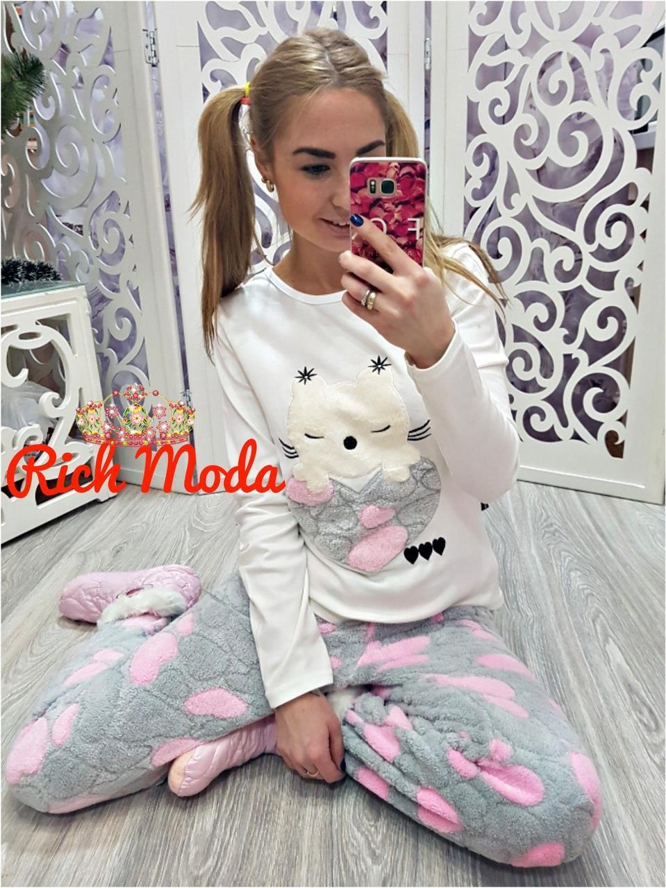 7c4239a3c1e78 Женская махровая пижама Турция LA-17500 - Интернет-магазин