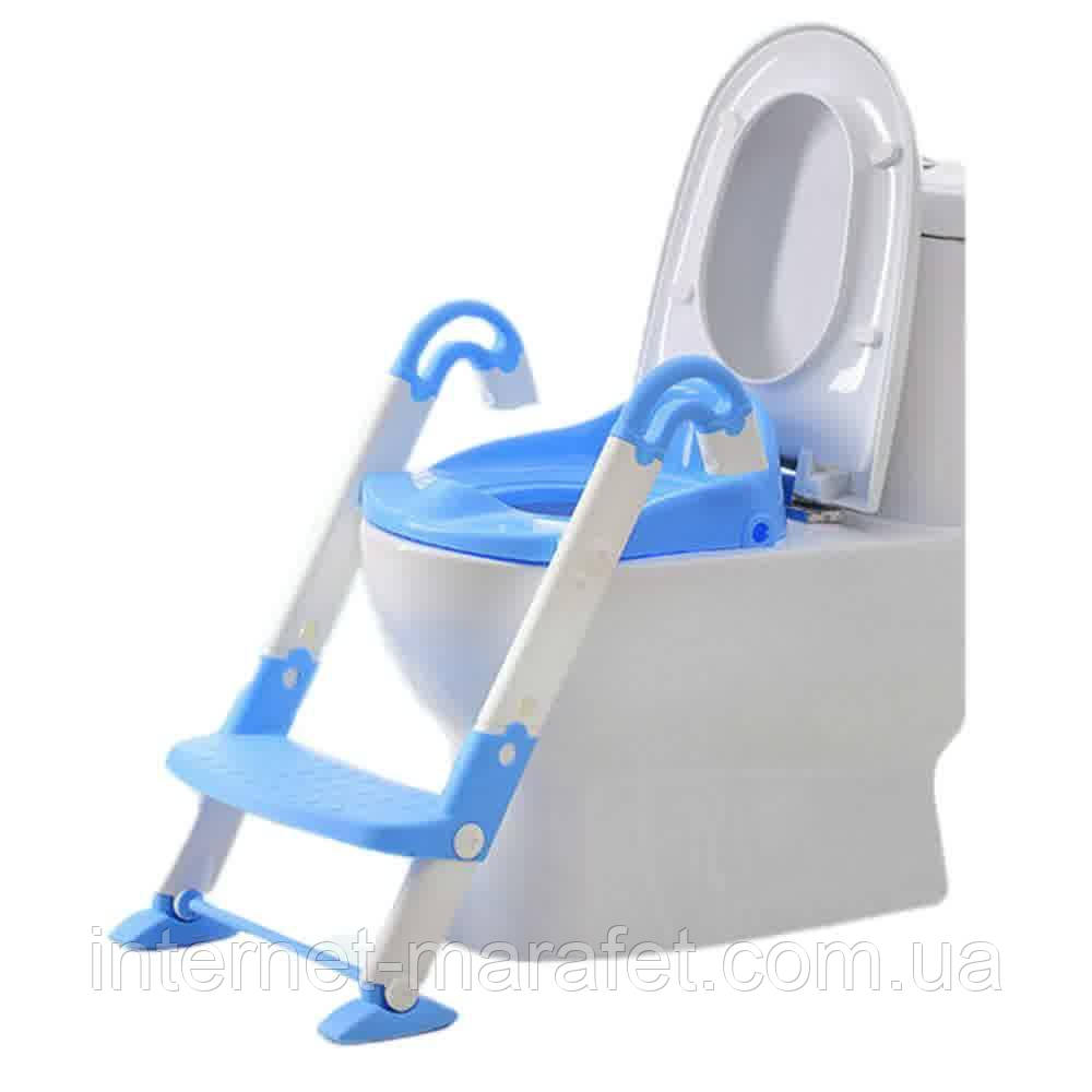 Детское сиденье для унитаза со ступенькой Froggie