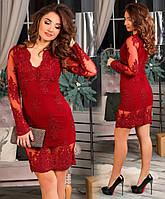 Нарядное женское платье французская вышивка на сетке , подклад стрейч бенгалин.  размеры 42,44,46