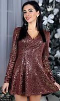 Нарядное платье с ангоры с напылениемс 42 по 46 размер 4 цвета