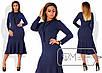 Красивое  длинное платье с юбкой годе ниже колен размер 48-54, фото 2