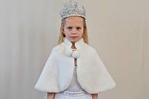 Праздничная детская накидка из красивого искусственного меха, фото 3