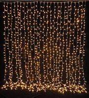 LED гирлянда штора 2 метра 144 лампочки